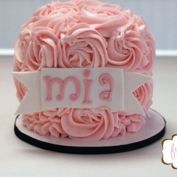 Rose Buttercream Smash Cake