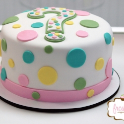 Baby Shower Gender Reveal Cake