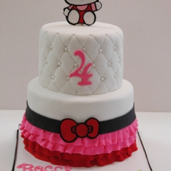 2 tier Hello Kitty Cake