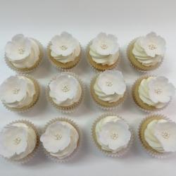Sugar flower cupcake toppers