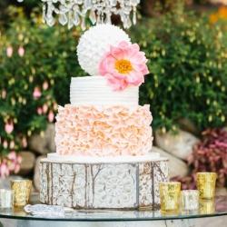 Fondant ruffle and buttercream Wedding Cake